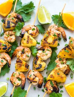 These Coconut Pineapple Shrimp Skewers are so easy and flavorful! Perfect for summer grilling and parties. @wellplated