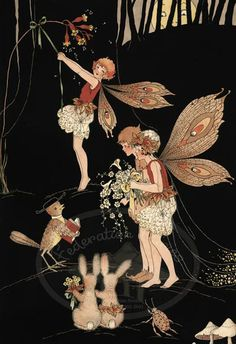 (Margaret Clark Limited Edition Prints to Collect) Fairies are able to bring light and color to a dark world. Illustrators, Vintage Fairies, Illustration, Fantasy Art, Fairy Paintings, Faery Art, Art, Fairytale Art, Prints