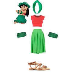 Designer Clothes, Shoes & Bags for Women Cartoon Outfits, Disney Dresses, Disney Outfits, Cute Easy Halloween Costumes, Lilo And Stitch Costume, Disneybound Outfits, Disney Dapper Day, Disney Nerd, Disney Princess