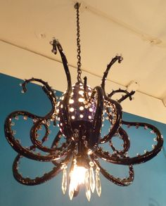 Octopus chandelier by artist Adam Wallacavage