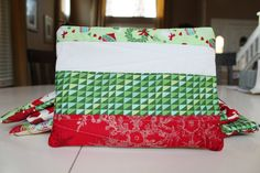 Christmas zipper pouch by SweetKiddyCaps on Etsy