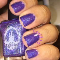 How gorgeous is Enchanted Polish August 2015. I bought this because it's my Hubby's birth month and I was so glad I did. That purple is gorgeous.