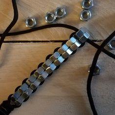 Paracord bracelet, meet hex nut