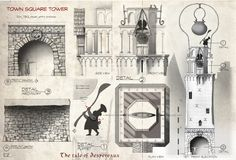 carlos zaragoza ▪ visual storytelling - THE TALE OF DESPEREAUX / 2008 / Universal Animation Studios / Orthographics Artist Architectural des...