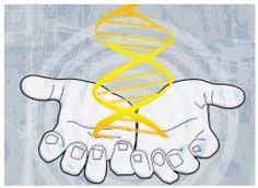 Gene Therapy in Sports: Gene Doping Dna Molecule, Gene Therapy, Double Helix, Light Blue Background, Sports Medicine, Palms, Strands, Infographics, Ladder