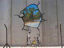 Banksy    near Bethlehem, 2005