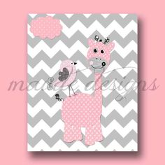 Elephant Nursery Art Grey And Pale Pink Girl S Room
