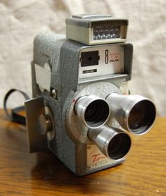 Vintage Tower 8mm Triple Lens Movie Camera Model T-185 #TheJunkPost