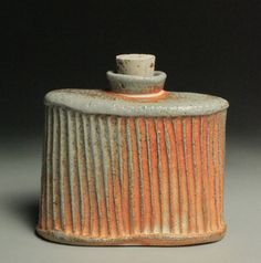 Soda Fired Whiskey Flask 2 by  j king