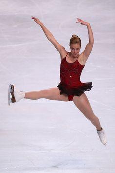 Ashley Wagner of USA  Ladies Short Program 2013 Trophee Eric Bompard, Red Figure Skating / Ice Skating dress inspiration for Sk8 Gr8 Designs.