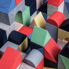 Colorful rattan (karuun) blocks by @outforspace.