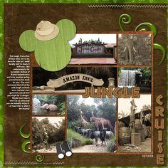 Disney safari scrapbook layout