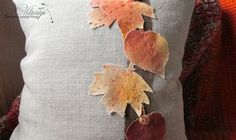 DIY Pillow Covers With Painted Autumn Leaves - The Creative Studio Burlap Pillows, Throw Pillows, Diy Pillow Covers, Creative Studio, Handmade Pillows, Different Shapes, Autumn Leaves, Crafts, Toss Pillows