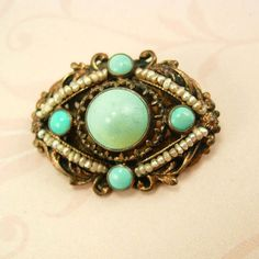 Antique Edwardian persian Turquoise pearl by vintagesparkles, $145.00