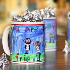 FATHER'S DAY GIFT IDEA- Child's Drawing Personalized Coffee Mug Little by TaylorJuneGifts