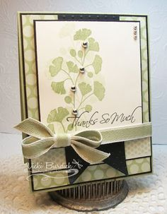 handmade card ... white and Pear Pizzazz with black accents ... how tiny bits of black matting and sentiment make the card look formal and complete ... luv it! ... Stampin' Up!