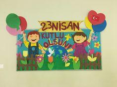 23 Nisan çocuk bayramı için Pano çalışması
