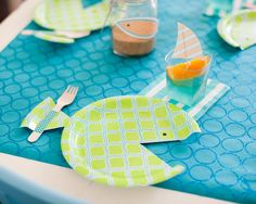 schöne Fischplatte Kinder Geburtstag Deko