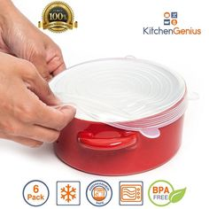 Multi Size 6 Silicone Lids Food and Bowl Covers - Reusable Stretch Lids Cover Wrap for Cans, Containers, Mugs, Mason Jars and Bowls - Perfect Baking and Cooking Kitchen Gadgets? 2 Free Suction Lids ? -- Check out this great product.