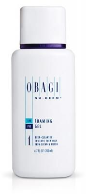 Is your skin slick, oily, and just plain uncomfortable? Sweep away that offensive complexion with Obagi Nu-Derm Foaming Gel. This rich and smooth foaming formula banishes impurities such as dirt and pollution from everyday activities while successfully managing, minimizing, and balancing your skin's natural oil production. You'll be able to glow again without the shine. $33.40