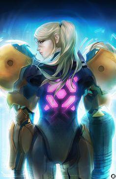 Samus Aran, Zero suit, Metroid series artwork by JisuArt. Metroid Samus, Metroid Prime, Samus Aran, Nintendo Characters, Video Game Characters, Female Characters, Viewtiful Joe, Overwatch, Character Art