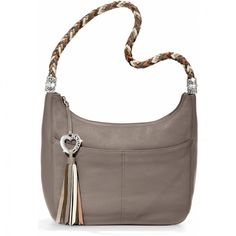 Barbados Ziptop Hobo, Gray