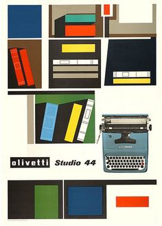 vintage Olivetti poster