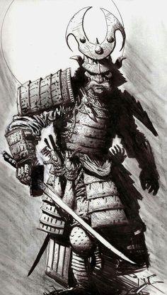 Samurai Is Life - Saint Fields Samurai Tattoo, Samurai Drawing, Samurai Artwork, Shogun Tattoo, Demon Tattoo, Tattoo Oriental, Ronin Samurai, Japanese Warrior, Japanese Dragon