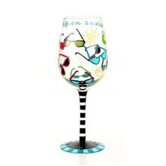 Top Shelf Walking on Sunshine Wine Glass by CKK Home Décor. $21.99. Save 12% Off!