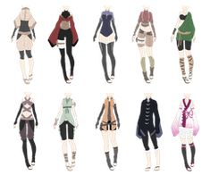 Naruto outfit adoptables 4 closed by on deviantart Clothes Draw, Drawing Anime Clothes, Anime Outfits, New Outfits, Cool Outfits, Fashion Design Drawings, Fashion Sketches, Ninja Outfit, Clothing Sketches