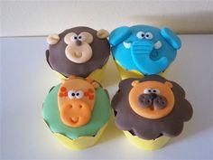Jungle cupcakes / bichinhos da selva cupcakes