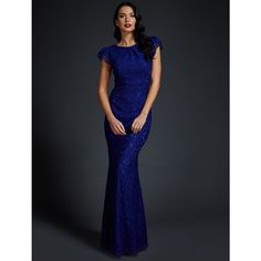 Langhem Elle Evening Dress Cobalt Blue