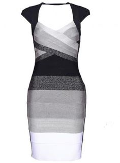 Gray Sexy Dress - Bqueen Ombre Open-Back Bandage Dress  $99