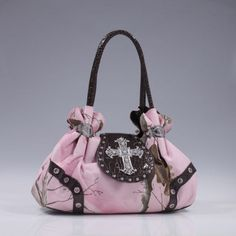 Realtree® Camo Rhinestone Cross Handbag