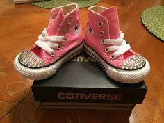 Bedazzled converse sneakers for Toddlers by MelroseCreation on Etsy https://www.etsy.com/listing/250469635/bedazzled-converse-sneakers-for-toddlers