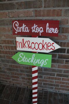 Santa Stop Here Yard Sign by CustomSignsByJac on Etsy, $60.00