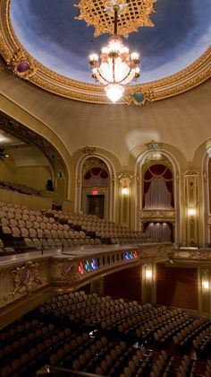 The exquisite Missouri Theatre of Columbia has original detailing from 1928, when it was first built. Concerts, theatrical productions and even private events are hosted here.