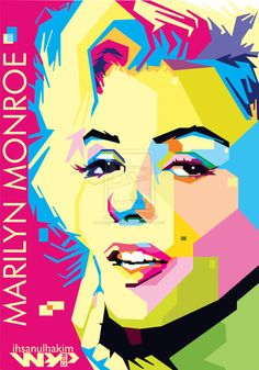 Marilyn Monroe WPAP by ~ihsanulhakim on deviantART  | This image first pinned to Marilyn Monroe Art board, here: http://pinterest.com/fairbanksgrafix/marilyn-monroe-art/ || #Art #MarilynMonroe