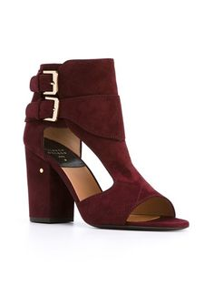 Laurence Dacade 'Rushkid' Bordeaux Suede and Leather Sandals