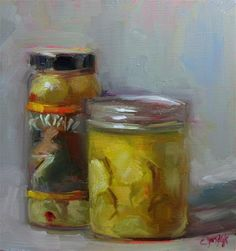 """Pickles and Olives"" - Original Fine Art for Sale - © Carol Josefiak"