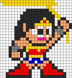Wonder Woman Classic Perler Bead Pattern