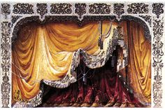 ''The Adventure of the Curtain'' - Main curtains Theatre Plays, Toy Theatre, Theater, Classic Curtains, Stage Curtains, Little Theatre, Mini Craft, Scenic Design, Stage Design