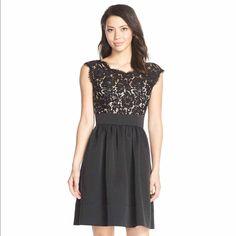 Eliza J Lace Mix Dress