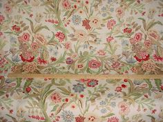 2-7/8 yards Lee Jofa 2001196.1 Port Eliot in Cream - Floral Luxury Linen Print Drapery Wallcovering Upholstery Fabric - Free Shipping