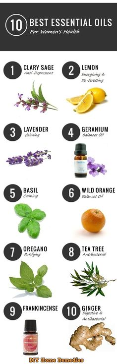 10 Best Essential Oils As Home Remedies For Women's Health.