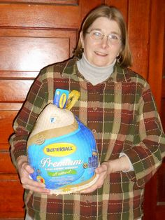 Dr. Lowman delivers more than crowns! Congratulations to Ruth Scholze for being the winner of our November turkey drawing in the office!