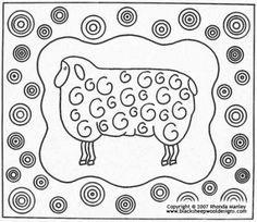 Sheep Rug hooking pattern