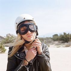 I'll ride a motorcycle if I can wear this helmet and goggle combo