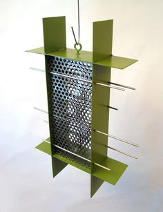 Sunscreen Sunflower Bird Feeder in Eden Green by joepapendick, $89.00