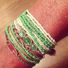 Brooke Gregson bracelets + Lena Skadegard necklaces @ WHITE bIRD